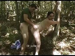 Chubby Teen In The Woods