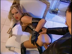 Briana has hot latex fetish sex