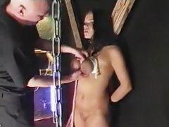 Breast bondage SMG