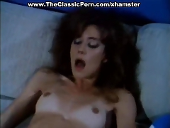 Dynamic retro movie with sexy lady