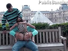 PARIS LOUVRE public group sex PART 2