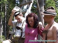 Mountain sex orgy