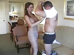 Pantyhose MILF And Fireman