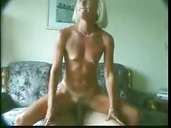 Nice blonde mature with stiff nipples