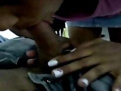 Ebony Teen Sucking A White Dick