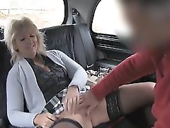 Mature Blonde Mom Has The Ride Of Her Life In A Taxi