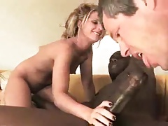 Bbc Too Big For Wife So Hubby Sucks To Helped It In !!!