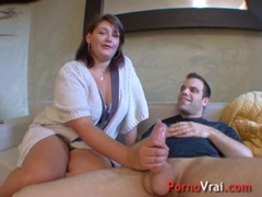 Busty Brunette For An Outstanding Fuck! French Amateur
