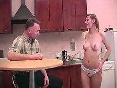 Fucking Old Man In The Kitchen
