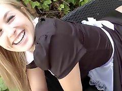 Blonde German Maid Loves Anal