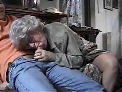 Grandma Watched The Masturbation Of The Grandson