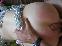 Submissive Big Booty Wife Spanked Tied Up And Fucked