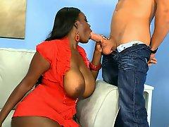 Ebony Capt Morgan Big Tits Ahoy Blowjob Big Cock
