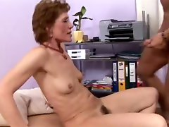 Granny Gets Rammed By A Young Cock