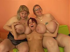 Skinny Girl Fucks With Strapon Two Fat Girls