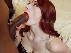 Redhead Loves Sucking Big Black Cock