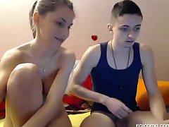 Blue Eyed Teenage Couple