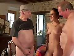 Threesome Fun With Voyeur Papy