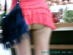 Esposa Mini Saia Publico Mini Skirt Wife Exhib In Public