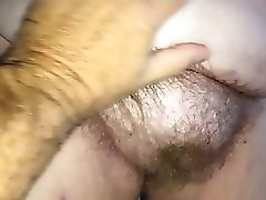 Rubbing Her Soft Hairy Bush Big Tits Belly & Hairy Ass