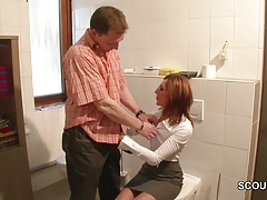 Sexy German Mother Get Fucked During Her Work