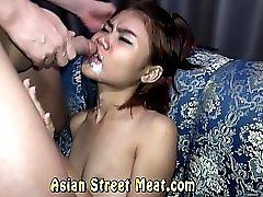 Gob Smacked Asian Semen Slapper