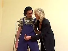 Mature Woman And The Decorator