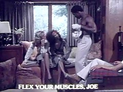 2 Girls 2 Guys Interracial Vintage Foursome Sex!