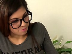Petite Teen With Glasses Gets Fucked