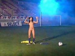 Brazilian Cutie Playing Soccer