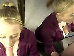 Double Vision Blonde Wife's Dripping Salivating Deepthroat