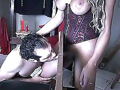 Shemale Fucks Tied Slave Basement And Pillory