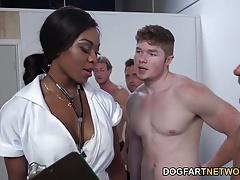 Nurse Nadia Jay Checks White Dicks