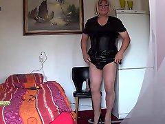 Shemale Sissy Slave Angela Fucking For Mistress Jezz