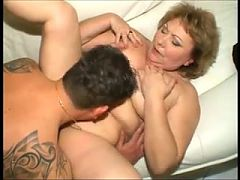 Hungarian Bbw Granny Fucked On The Sofa Anal