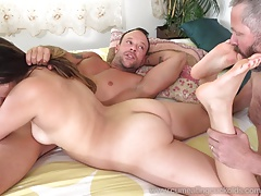 Husband Watches His Wife Sucking Dick And Getting Fucked