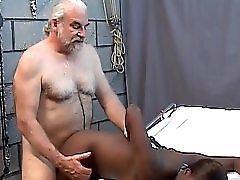 Black Slave Serving Her Master