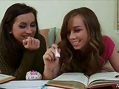 Lesbian Homework Break