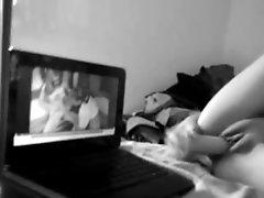 Dildo Masturbation Watching Porn