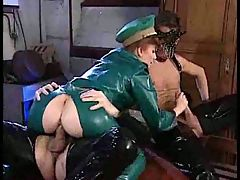 Military Latex Fetish Fuckers With Commentary