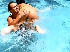 Big Boobs Stepmom Fucks The Pool