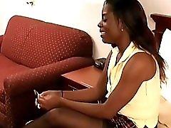 Ebony Hooker Gets The Paddle Train Wreck