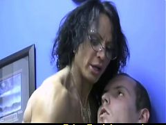 Muscled Mature Jerks Him Off