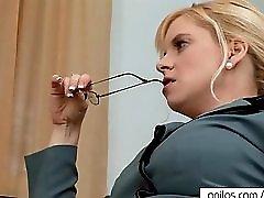 Bigtit MILF Sneaks Office Orgasm