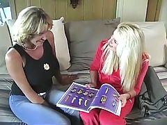 Mature Lesbian Teaches A Younger Girl