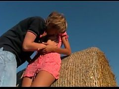 Euro Couple Fuck On Some Hay