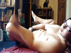 Nerdy Girl Masturbates And Cums Hard