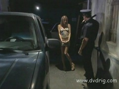 Schoolgirl Holly Hollywood Pulls Over And Fails Police Tests