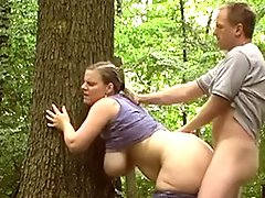 Nice Couple Have Sex Outdoor