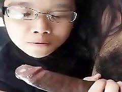 Asian Girl Sucks Bbc And Swallows His Cum